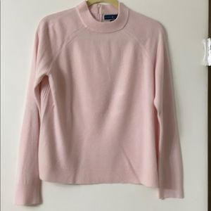 Karen Scott Pretty Pink Acrylic Crew Neck Sweater